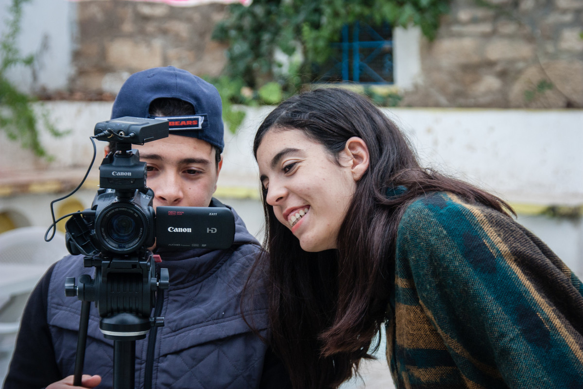 Youth practicing journalism in Tunisia