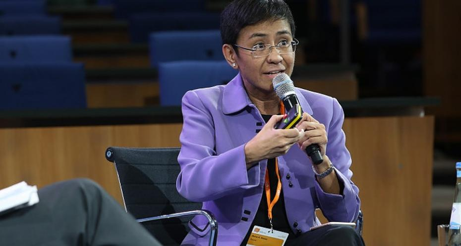 Photo of Maria Ressa, CEO of Rappler in the Philippines